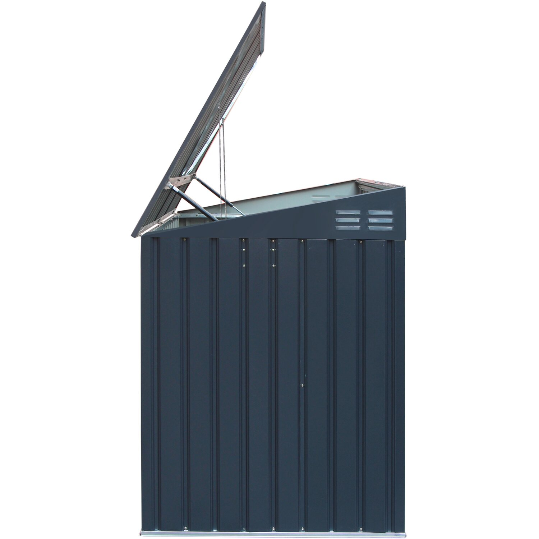 Fabulous Metall Mülltonnenbox Grau für 2 Mülltonnen 240 Liter 131 cm x 172 VO64