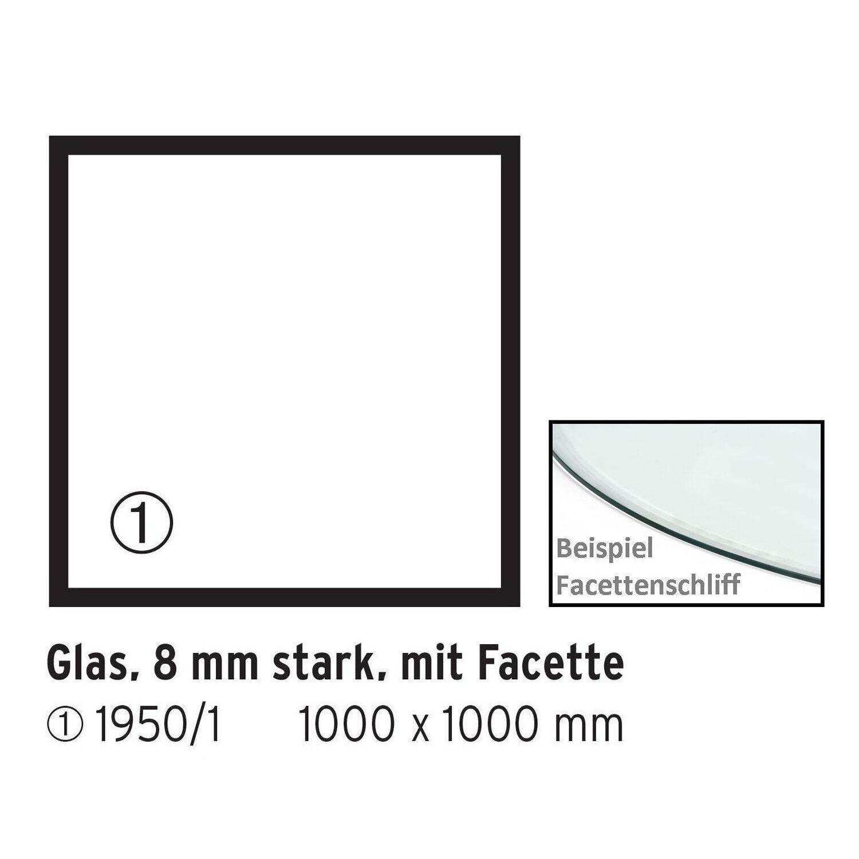 Firefix  Glasbodenplatte Quadrat