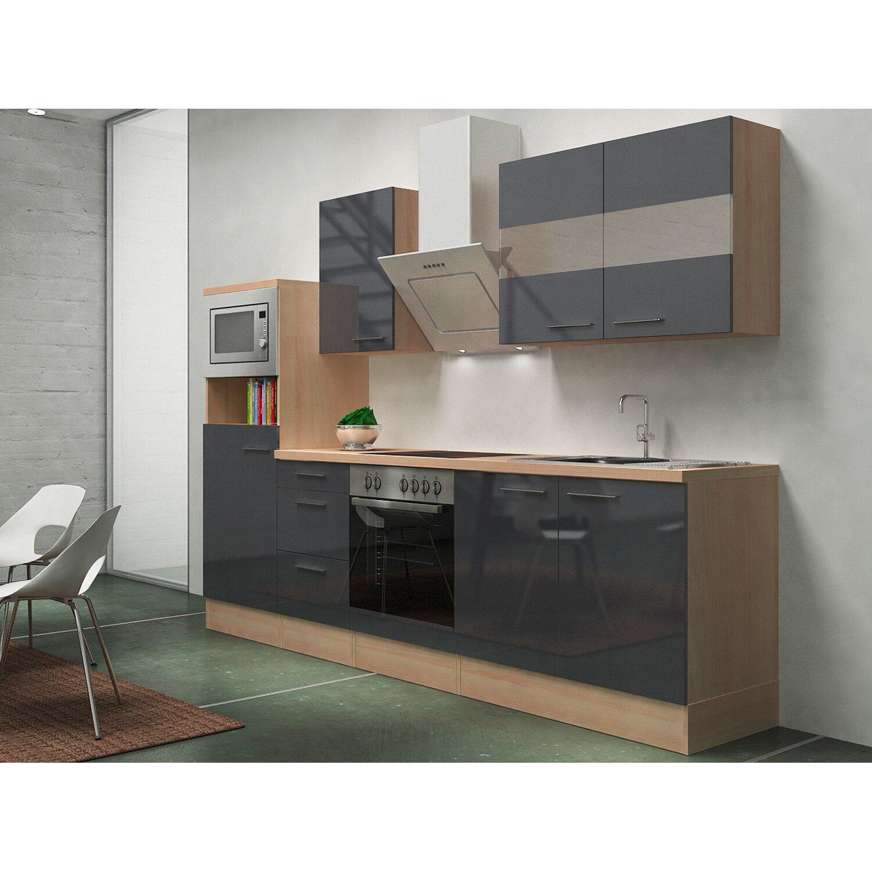 Respekta Premium Küchenzeile RP270AGCMIS 270 cm...