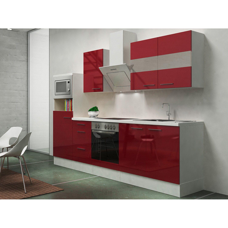 Respekta Premium Küchenzeile RP270WBOCMIS 270 c...