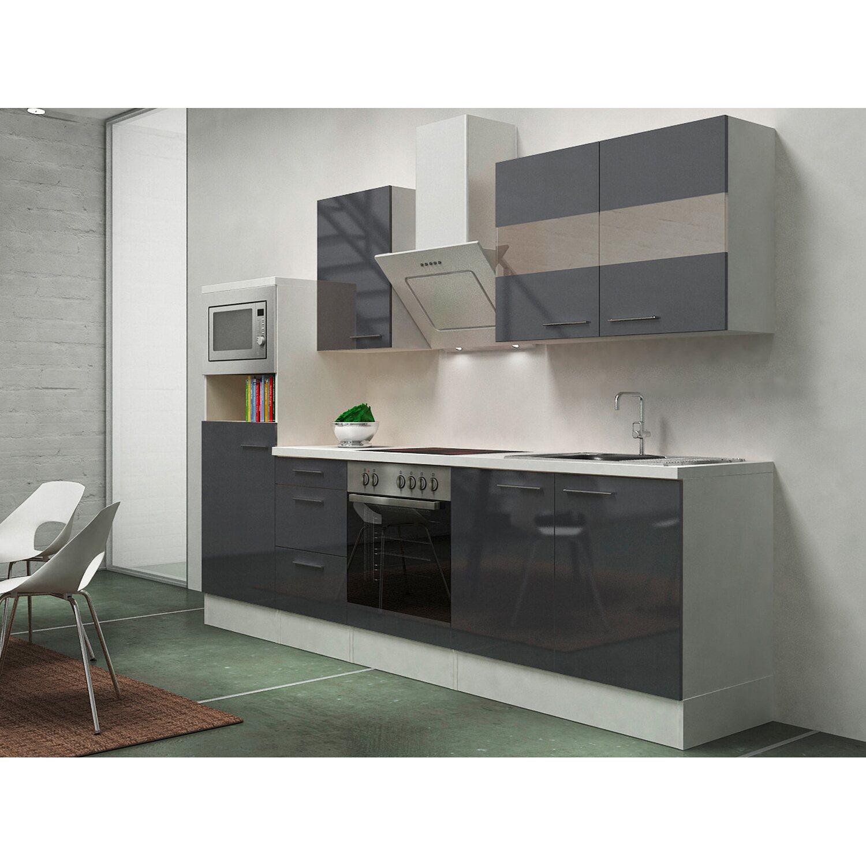 Respekta Premium Küchenzeile RP270WGCMIS 270 cm...
