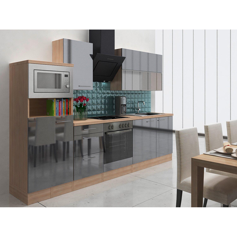 Respekta Premium Küchenzeile RP280AGCMIS 280 cm...