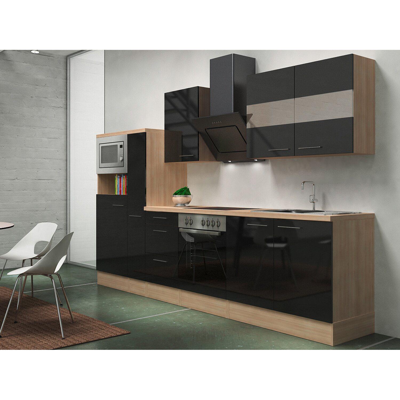 Respekta Premium Küchenzeile RP300ASCMIS 300 cm...