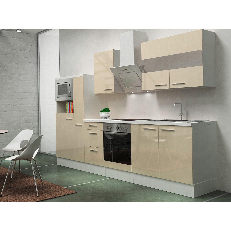 Respekta Premium Küchenzeile RP300WVACMIS 300 c...