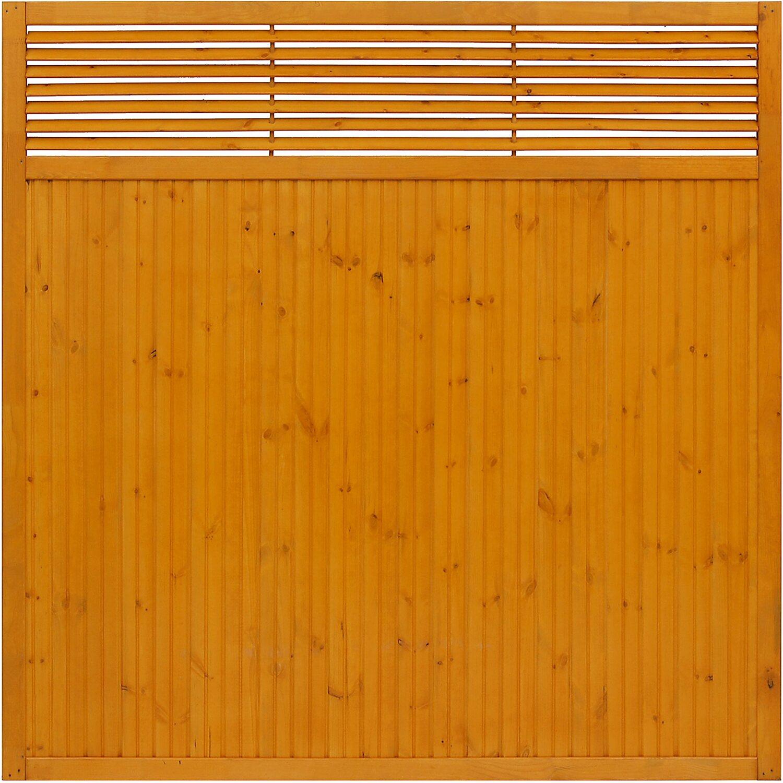 sichtschutzzaun element york pinienfarben 180 cm x 180 cm kaufen bei obi. Black Bedroom Furniture Sets. Home Design Ideas