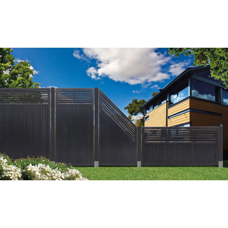 Sichtschutzzaun Element York Anthrazit 180 Cm X 180 Cm Kaufen Bei Obi