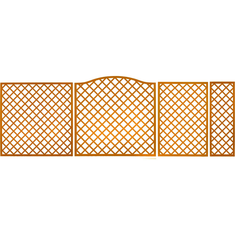 Sichtschutzzaun-Element Pergola Pinienfarben 180 cm x 60 cm kaufen ...