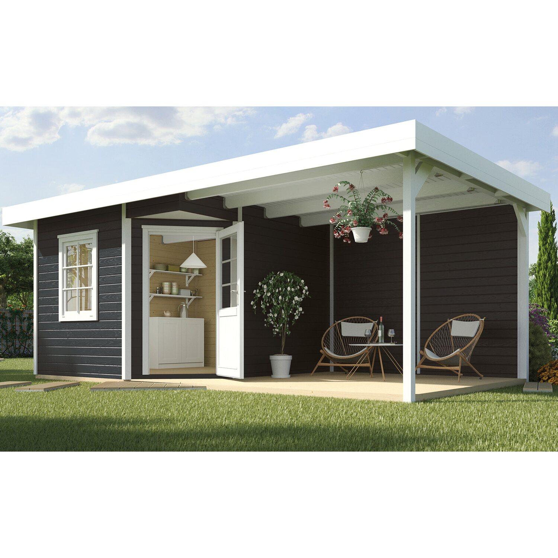 weka holz gartenhaus san remo a anthrazit wei 541 cm x. Black Bedroom Furniture Sets. Home Design Ideas