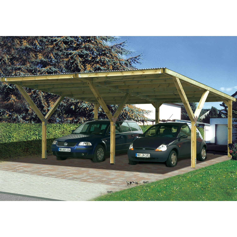 Weka Stahldach-Doppelcarport Mugello B 594 cm x 606 cm | Baumarkt > Garagen und Carports > Carports | Holz - Stahl | Weka