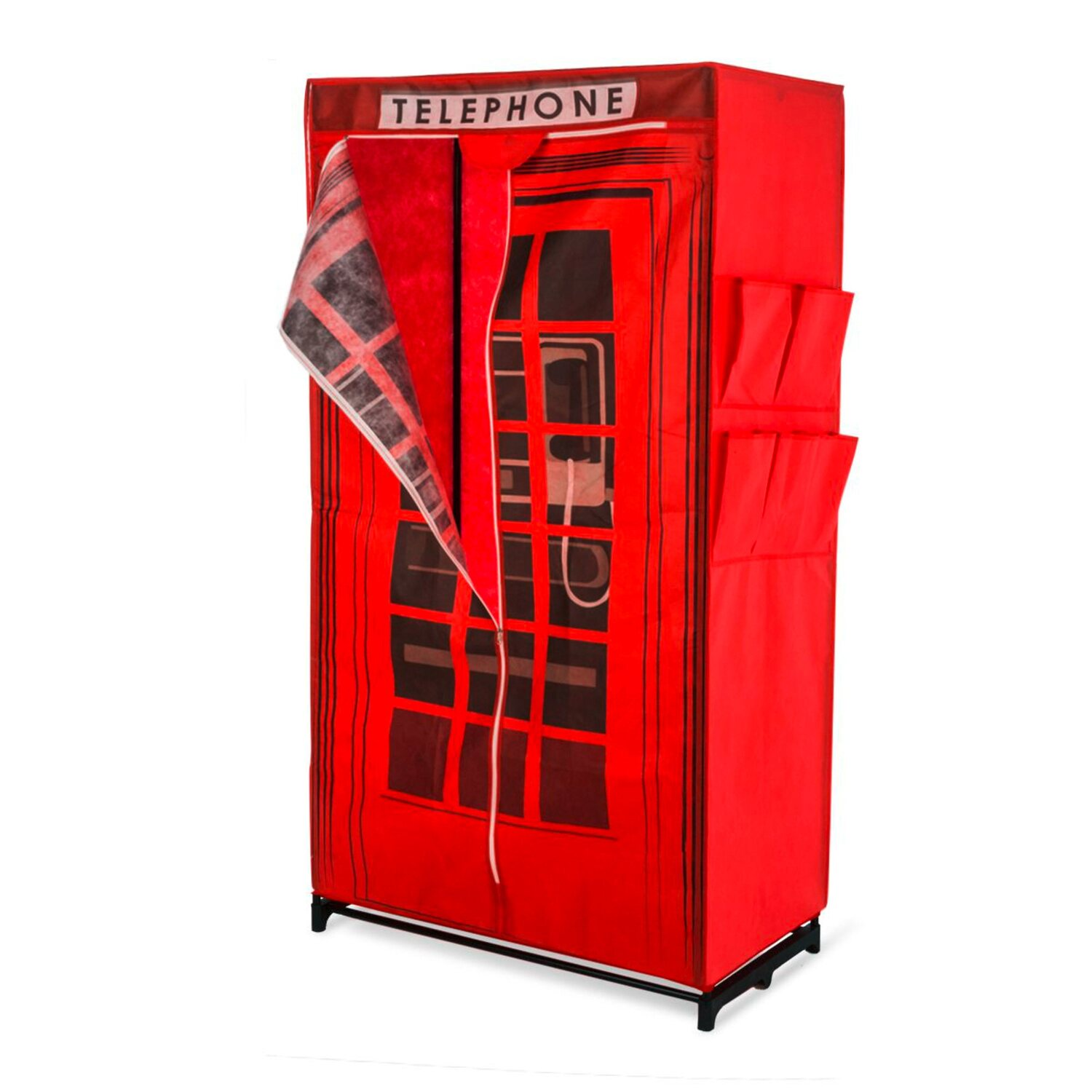 Best of home Kleiderschrank Telephone 157 cm x 87 cm x 45 cm Rot ...