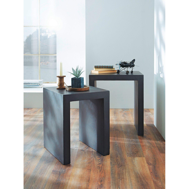 best of home tisch set modern 2 teilig grau kaufen bei obi. Black Bedroom Furniture Sets. Home Design Ideas