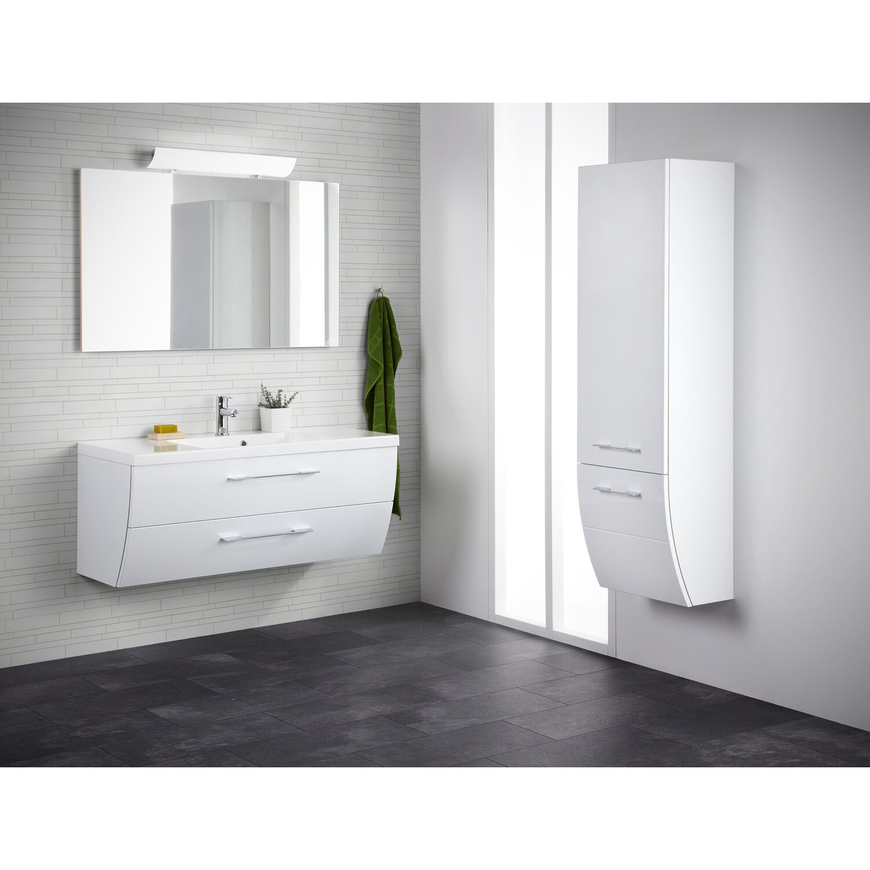 scanbad badm bel set 120 cm mit spiegelpaneel rumba wei. Black Bedroom Furniture Sets. Home Design Ideas