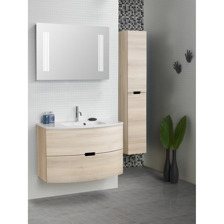 scanbad badm bel set 90 cm mit spiegelpaneel modern sand 3 teilig eek a kaufen bei obi. Black Bedroom Furniture Sets. Home Design Ideas