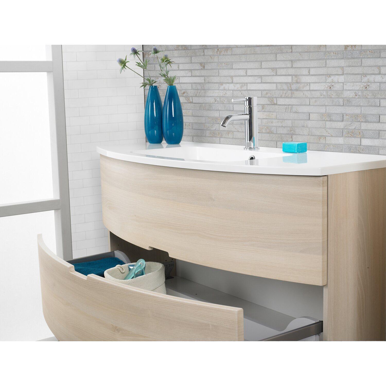 Scanbad badm bel set 90 cm mit spiegelschrank modern sand 3 teilig kaufen bei obi - Badmobel set modern ...