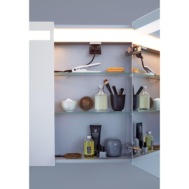 scanbad badm bel set 90 cm mit spiegelschrank modern sand 3 teilig kaufen bei obi. Black Bedroom Furniture Sets. Home Design Ideas