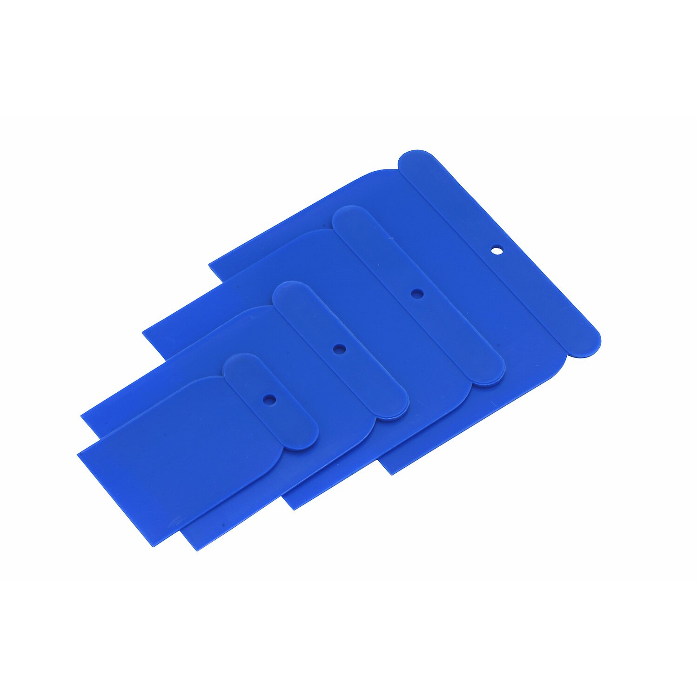 Japanspachtel 4er Set Kunststoff 50mm//75mm//100mm//120mm