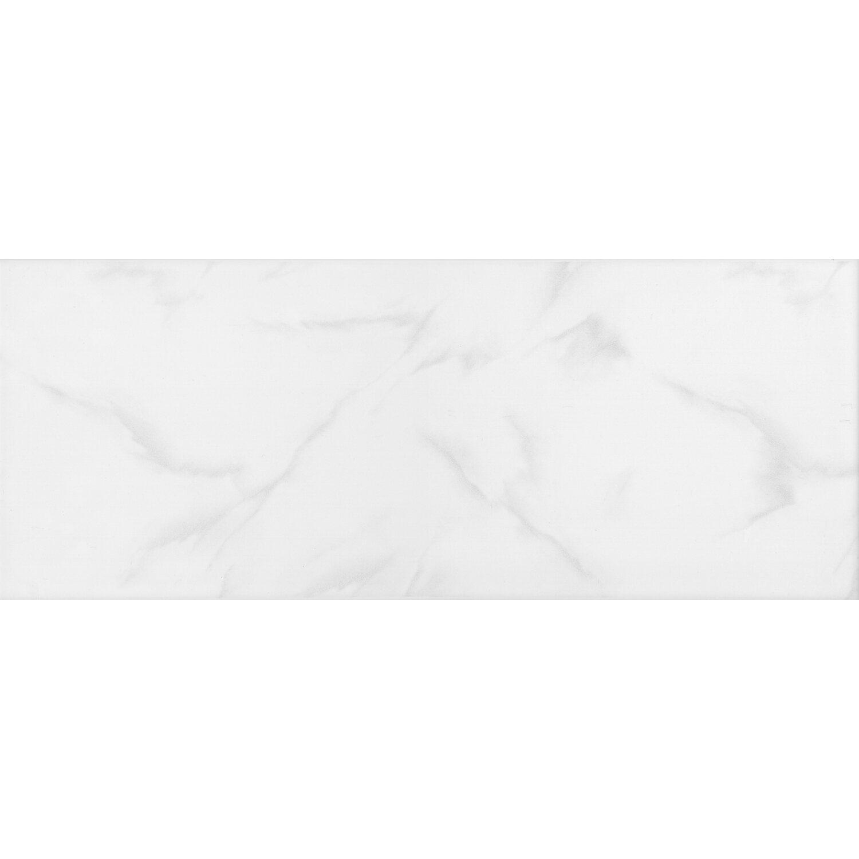 Wandfliese Marbella Weiss-Grau Glänzend  20 cm x 50 cm