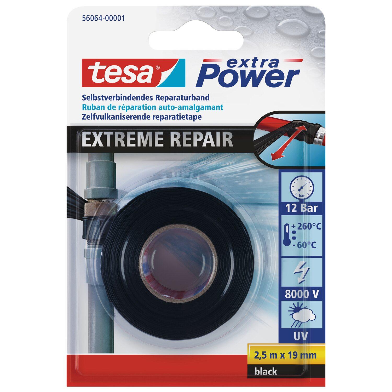 Relativ Tesa extra Power Reparaturband Extreme Repair Schwarz 2,5 m x 19 NS42