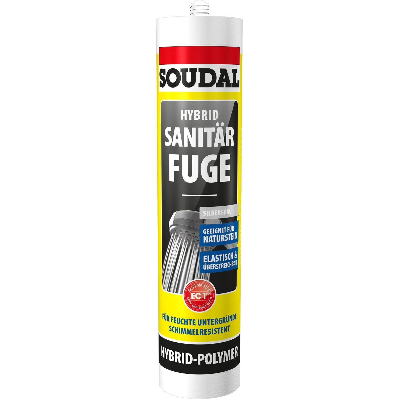 Soudal Hybrid Sanitär Fuge Silbergrau 470 g