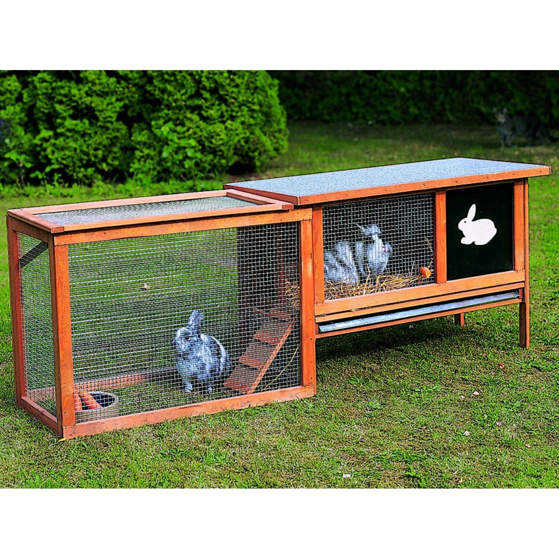 Promadino Kleintierstall mit Freilaufgehege | Garten > Tiermöbel > Hasenställe-Kaninchenställe | Promadino