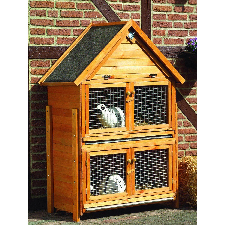 Promadino Erweiterung für Kleintierstall mit Spitzdach | Garten > Tiermöbel > Hasenställe-Kaninchenställe | Promadino