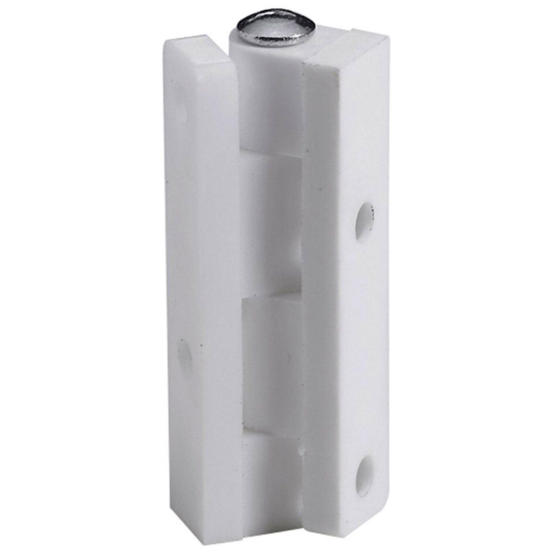 Hettich  Anschraubband Kunststoff 45 mm x 10 mm Weiß 2 Stück