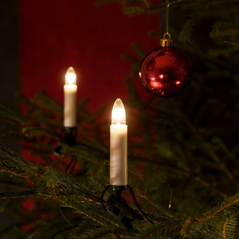 Konstsmide Baum Lichterkette One String 25 Warmweiße Birnen Innen