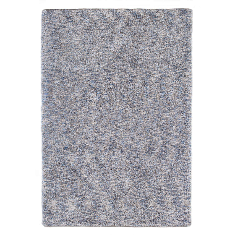 Hochflor Teppich Wellness 70 Cm X 140 Cm Grau Blau Kaufen Bei Obi