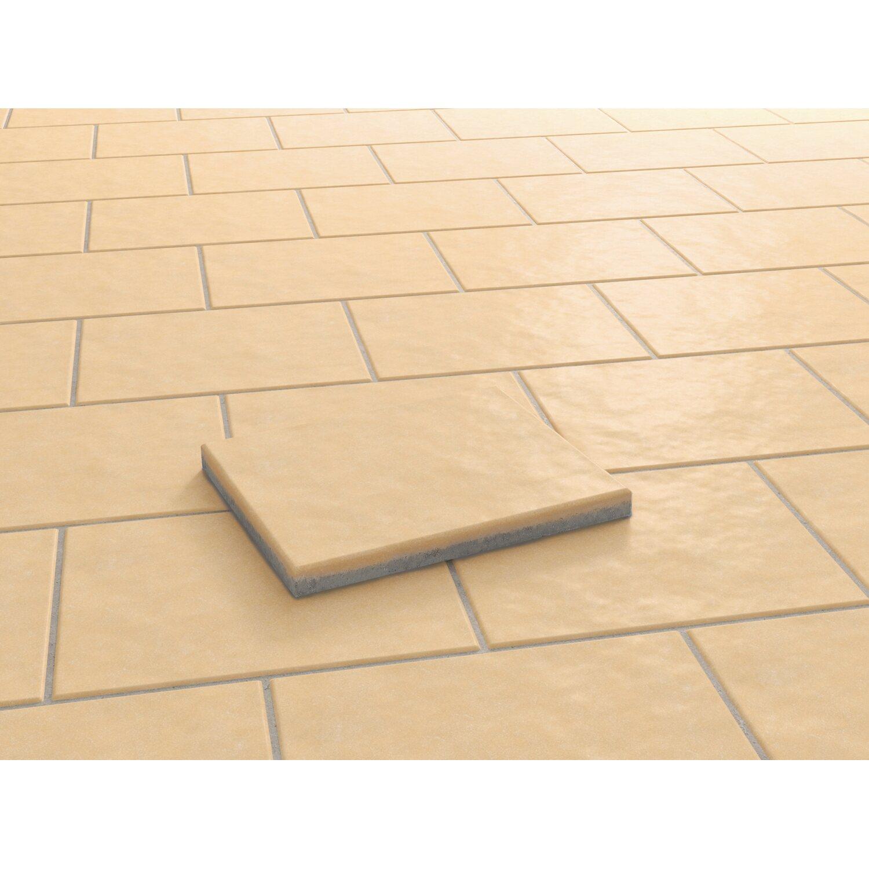 Kann Terrassenplatte Beton Aveiro Apricot strukturiert 60 cm x 40 cmx 4,2 cm