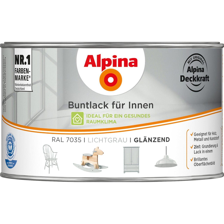 Favorit Alpina Buntlack für Innen Lichtgrau glänzend 300 ml kaufen bei OBI EG59