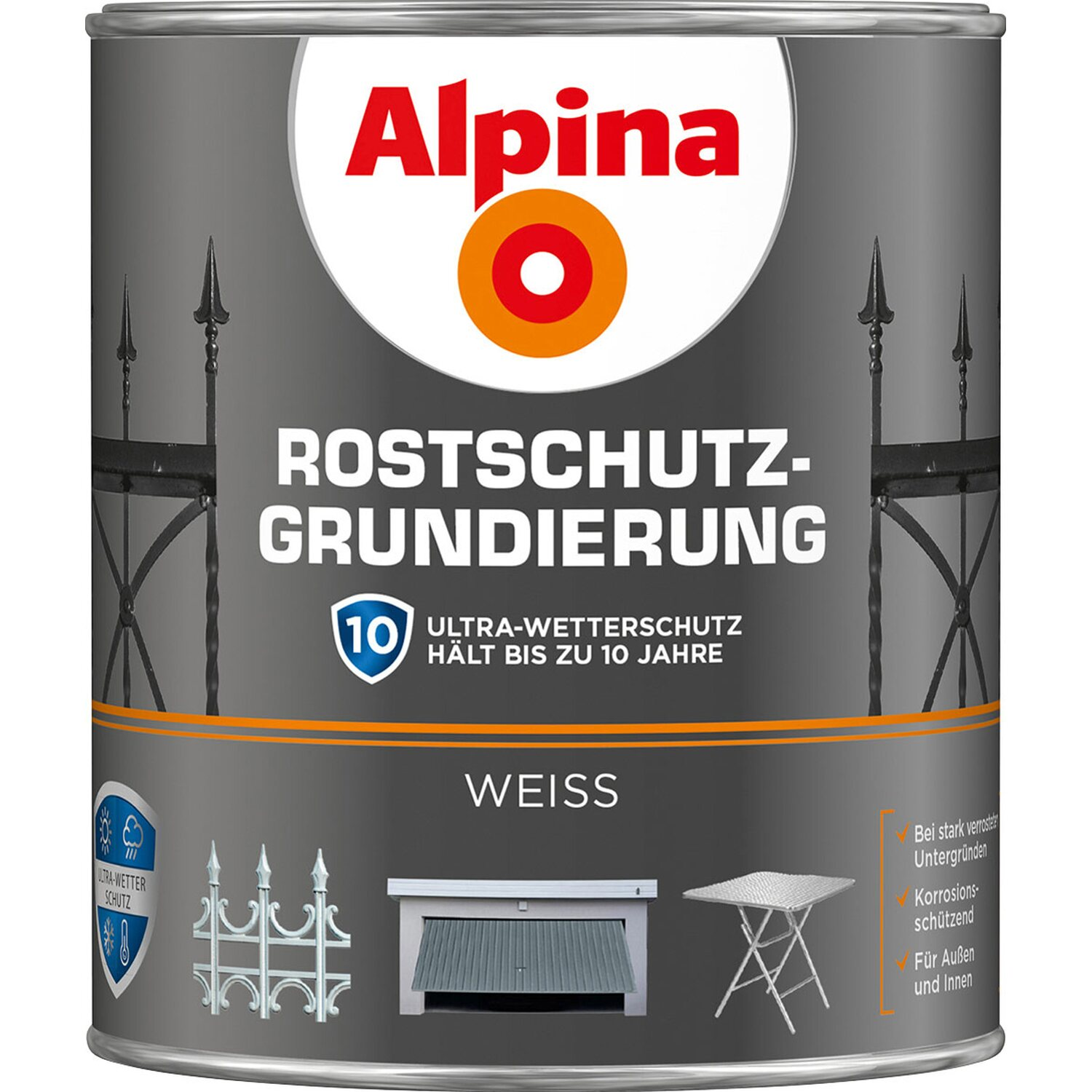 alpina rostschutz grundierung wei 750 ml kaufen bei obi. Black Bedroom Furniture Sets. Home Design Ideas