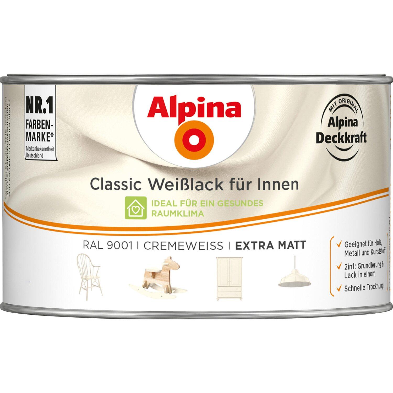 Alpina  Classic Weißlack für Innen Creme matt 300 ml