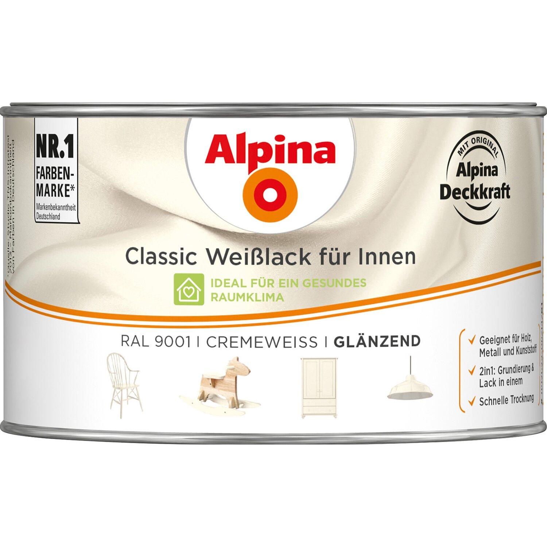 Alpina  Classic Weißlack für Innen Creme glänzend 300 ml