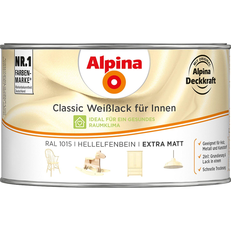 Alpina  Classic Weißlack für Innen Hellelfenbein matt 300 ml