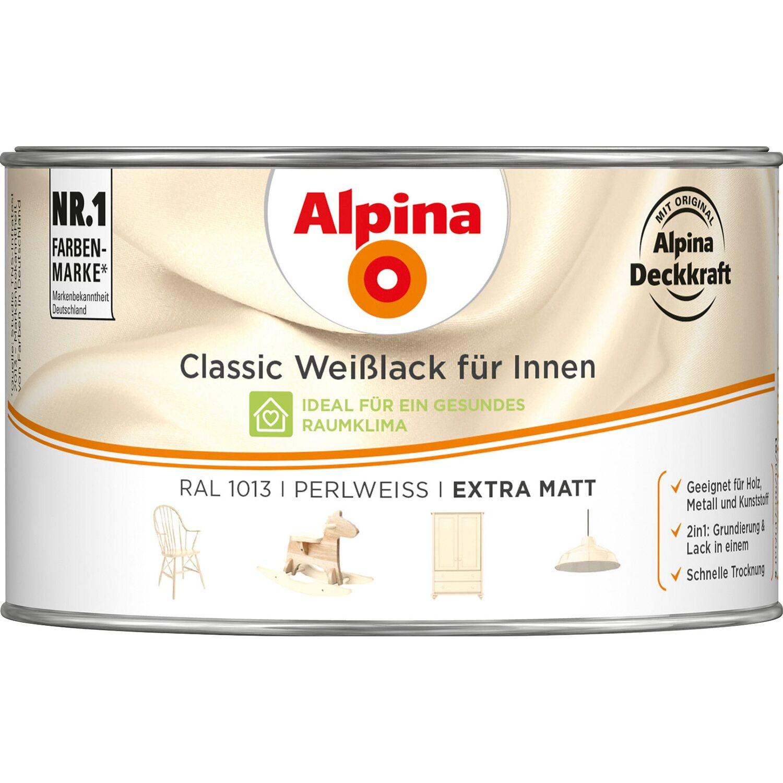 Alpina  Classic Weißlack für Innen Perlweiß matt 300 ml