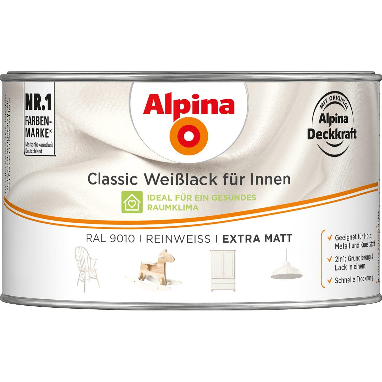 Alpina  Classic Weißlack für Innen Reinweiß matt 300 ml