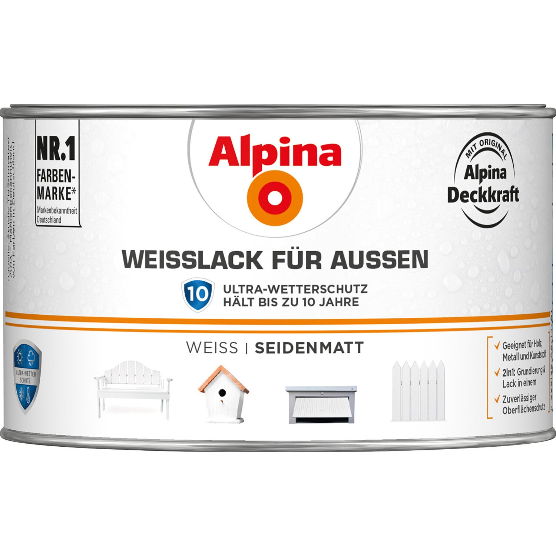 Alpina  Weißlack für Außen seidenmatt 300 ml