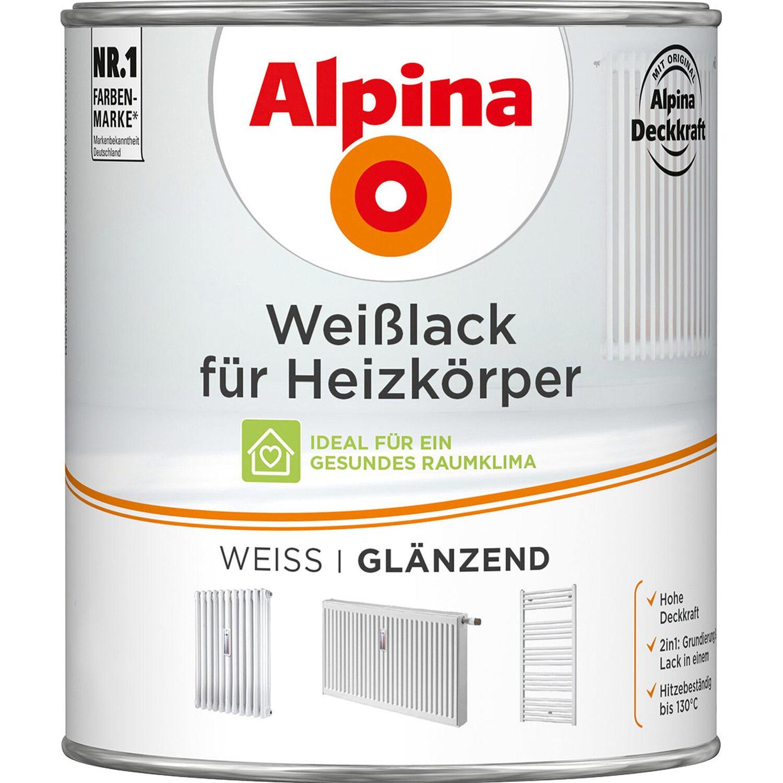 Alpina  Weißlack für Heizkörper glänzend 750 ml