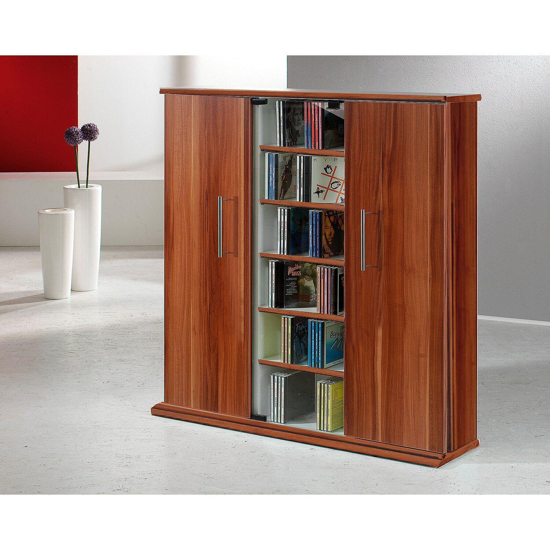 vcm cd dvd m bel santo kern nussbaum nachbildung kaufen bei obi. Black Bedroom Furniture Sets. Home Design Ideas