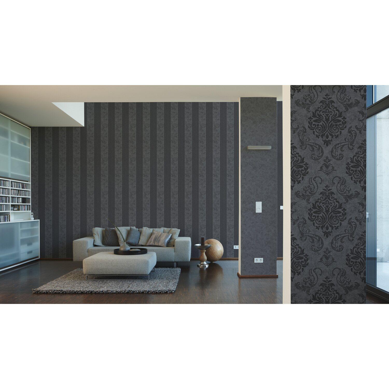 Schön Wandtattoo Streifen Foto Von A.s. Creation Vliestapete Elegance Grau