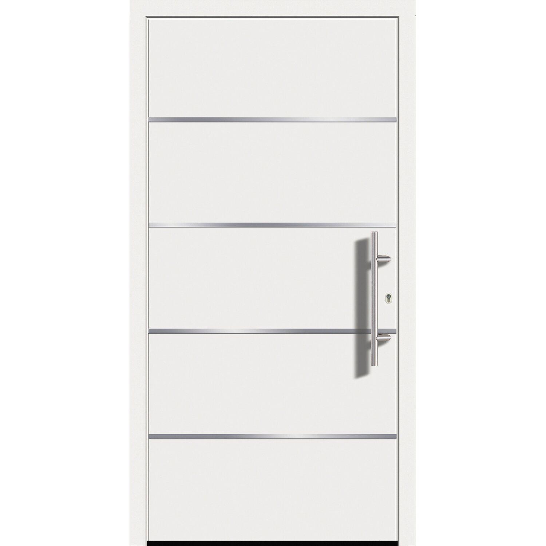 Sonstige Aluminium-Haustür Modell Ohio 110 cm x 210 cm Weiß Anschlag Rechts
