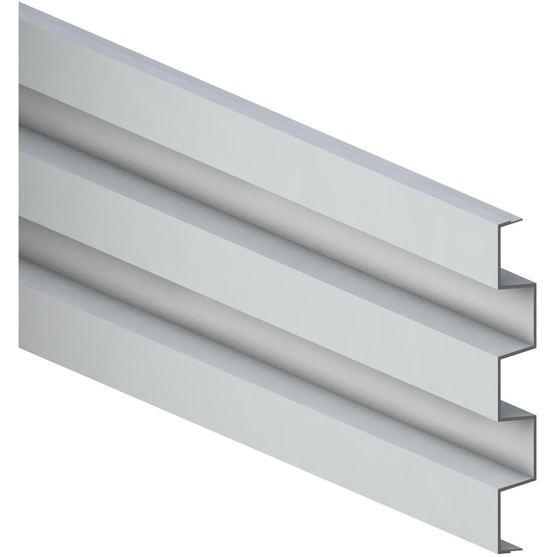 Zaun Zubehor Einzelprofil System Alu Cube Silber 15 Cm X 2 Cm X 178