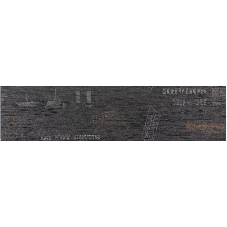 Sonstige Boden-Dekor Oregon Schwarz 15 cm x 60 cm