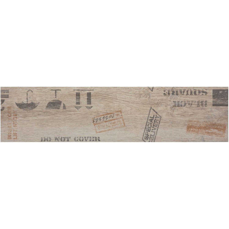 Sonstige Boden-Dekor Oregon Weiß 15 cm x 60 cm