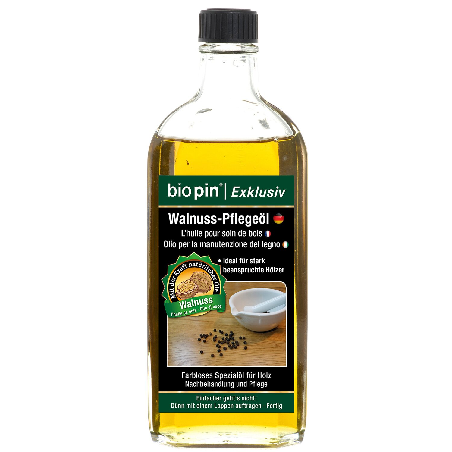 Biopin  Exclusiv  Walnuss-Pflegeöl Transparent 250 ml