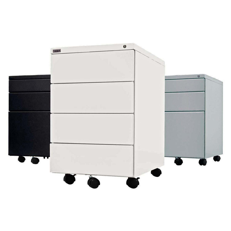 Rollcontainer metall schwarz  Best of home Rollcontainer mit 4 Schubladen Schwarz kaufen bei OBI