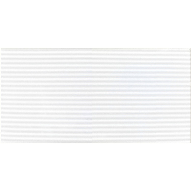 Sonstige Wandfliese Matrix Weiß glänzend 30 cm x 60 cm