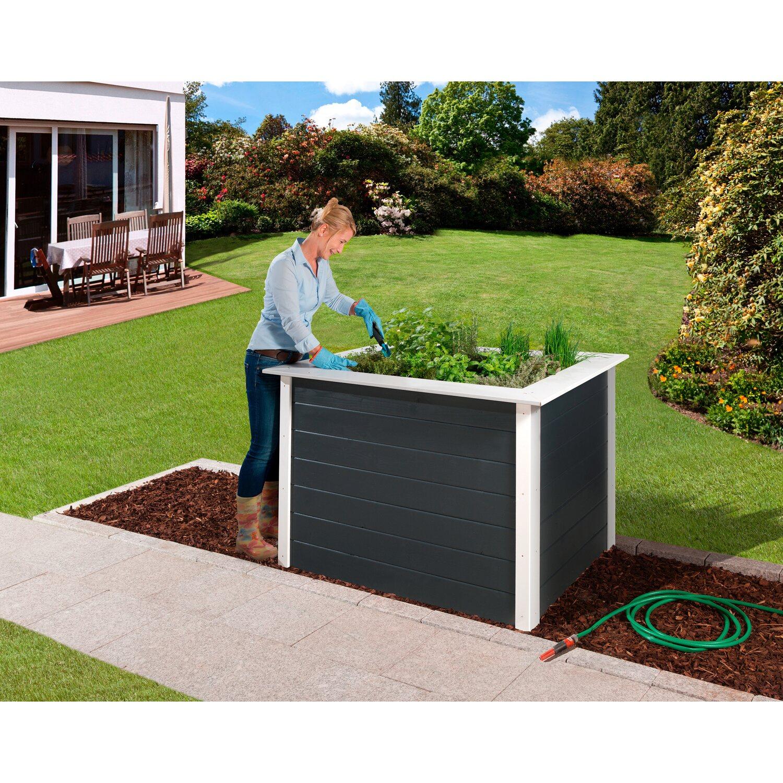 weka hochbeet floris 120 cm x 80 cm x 81 cm anthrazit wei kaufen bei obi. Black Bedroom Furniture Sets. Home Design Ideas