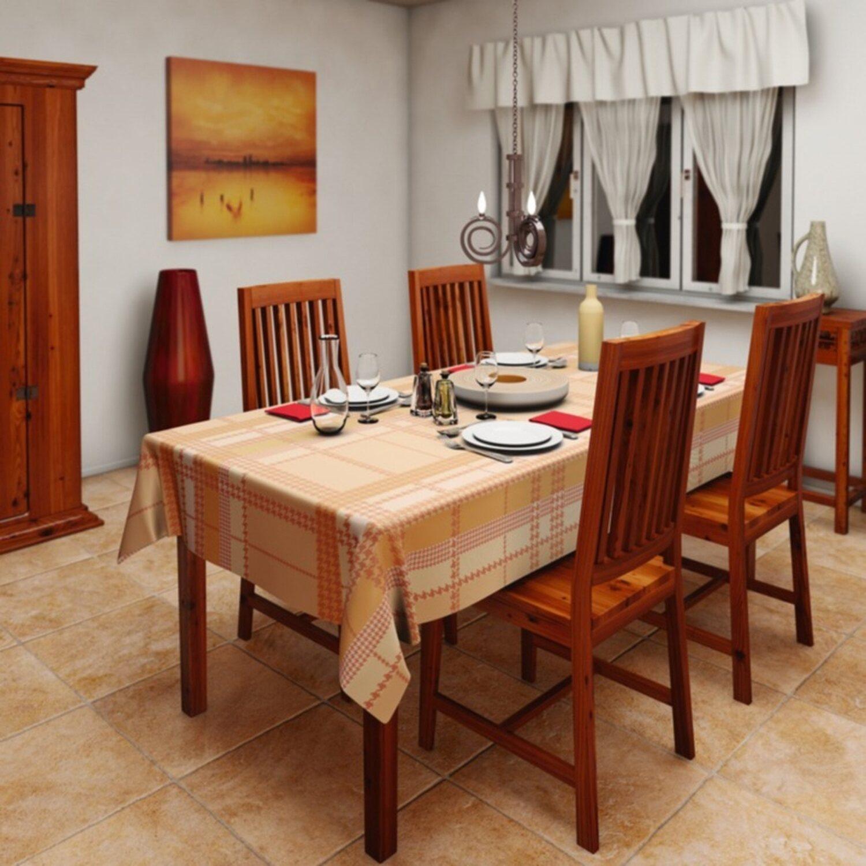 d c fix tischdecke fay apricot 150 cm rund kaufen bei obi. Black Bedroom Furniture Sets. Home Design Ideas