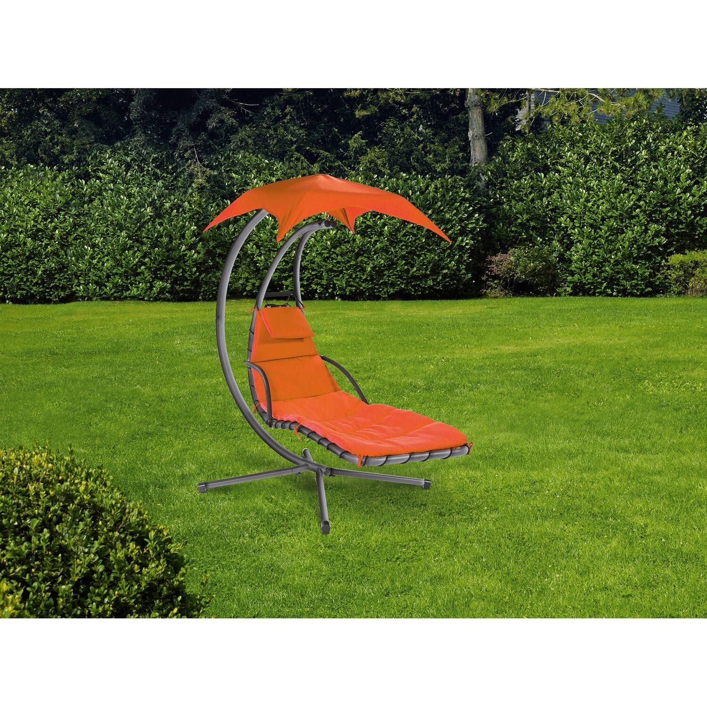obi schwingliege palmdale mit sonnendach und gestell textil terracotta kaufen bei obi. Black Bedroom Furniture Sets. Home Design Ideas